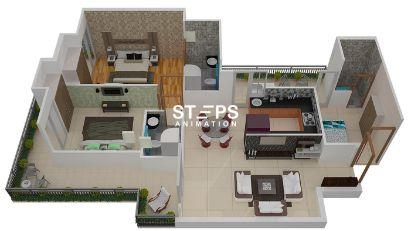 3d floor plan design services StepsAnimation