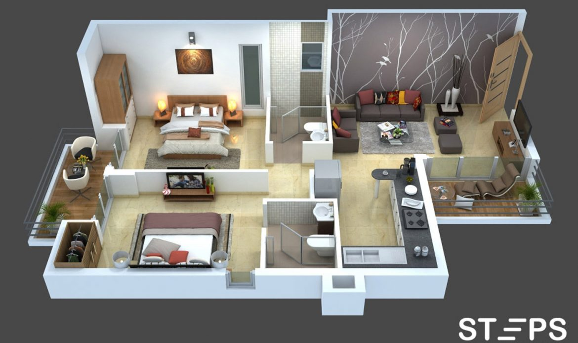 3D Floor Plan Service StepsAnimation