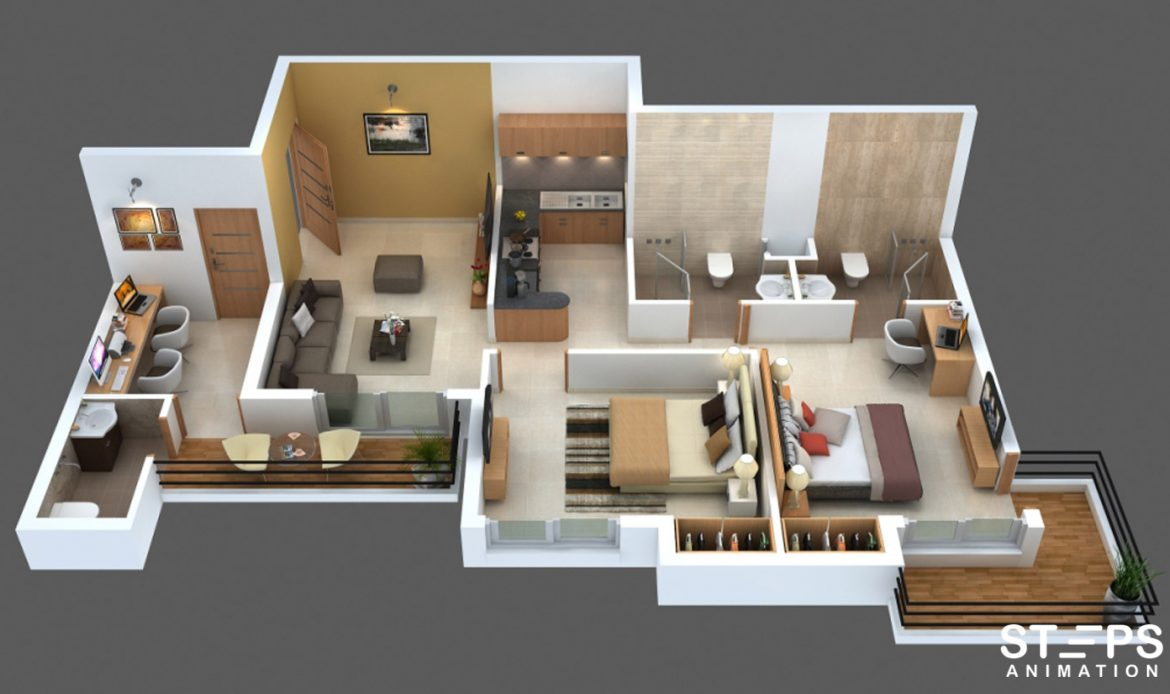 3D Floor Plan Services StepsAnimation