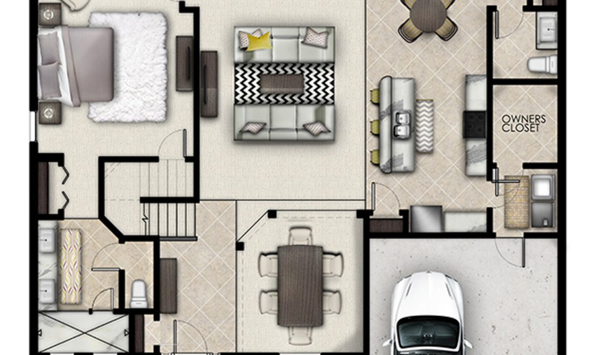 3D Home Floor Plan Design StepsAnimation