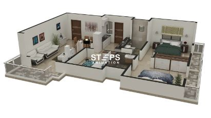 3d interactive floor plans StepsAnimation