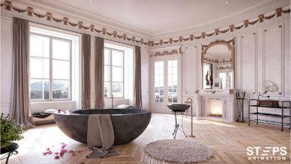 3d interior rendering StepsAnimation