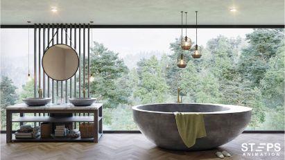 3d interior rendering company StepsAnimation