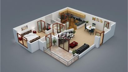 floor design 3d StepsAnimation