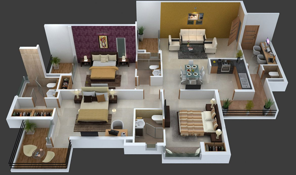 Floorplan 3D Home StepsAnimation