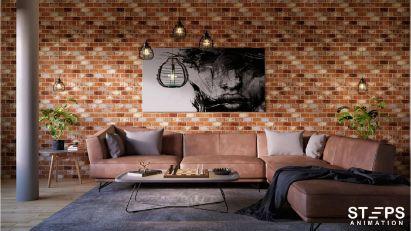 interior design render StepsAnimation
